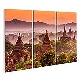 bilderfelix® Bild auf Leinwand Bagan Myanmar Alte Tempel