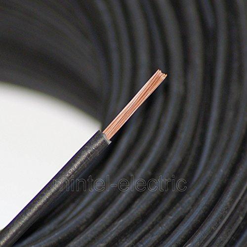 Verdrahtungsleitung H07V-K 10 mm² schwarz PVC-Einzelader feindrähtig, Cu-blank *Meterware*