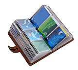 RFID Credit Card Holder Book,Leather Business Card Organizer for Women Men 96 Card Slots (Black)