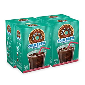 The Original Donut Shop Cold Brew Coffee Coarse Ground Makes 8-48oz Pitchers of Real Cold Brew Coffee  4 boxes of 4 filters