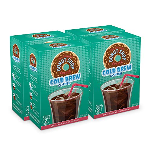The Original Donut Shop, Cold Brew Coffee, Coarse Ground, Makes 8-48oz. Pitchers of Real Cold Brew Coffee (4 boxes of 4 filters)