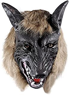 ONEDONE Wolf Head Mask forHalloween and Cosplay Costume Party