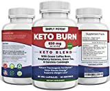 Simply Potent Keto Burn Diet Pills for Weight Loss, Thermogenic Fat Burner for Men & Women, Keto Supplement for Ketosis & Focus w Raspberry Ketone, Garcinia Combogia, Green Tea & Coffee, 60 Capsules