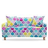 WXQY Funda de sofá elástica para sillón de Mariposa, Funda de sofá para Sala de Estar, Esquina en Forma de L, Funda de sofá Modular, Funda de sofá A13, 2 plazas