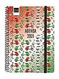 Finocam 748000421-Agenda 2021 Settimanale con rilegatura a Spriale Design Collection Moto Italiano