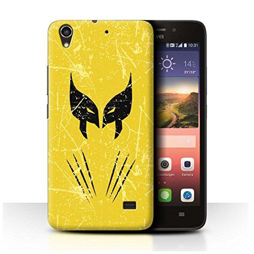 Hülle Für Huawei Ascend G620S Antiheld Comic-Kunst Wolverine Inspiriert Design Transparent Ultra Dünn Klar Hart Schutz Handyhülle Hülle