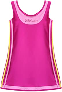 FUIBENG Chevron Stripe High Neck Halter Bikini Little Kid One Piece Swimsuit