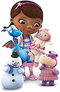 Doc McStuffins - Chilly Lambie Stuffy Hallie - For Light-Colored Materials - Iron On Heat Transfer 5
