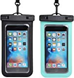 ZEINZE Universal Waterproof Phone Pouch 2 Pack Floating Waterproof, Waterproof Phone Case IPX8 Available TPU Clear Dry Bag for Any Mobile Phone(Such as iPhone11 Galaxy S8/S7/S6)-6.5 inch