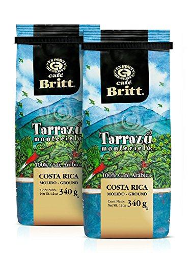 Cafe Britt Tarrazu Montecielo Arabica gemahlen Kaffee, 2 Packungen (340 g jede Packung)