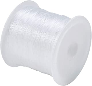 Clear Nylon String Non-Stretchy Beading Threads for Beading Jewellery Bracelets and Crafts Invisible Thread, 0.25 mm