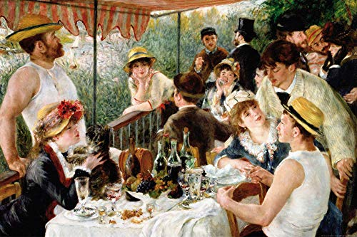 1art1 Pierre Auguste Renoir Posters XXL - Le Déjeuner des Canotiers, 1880-1881 (120 x 80 cm)
