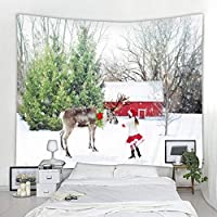 Beautiful Snow Christmas Tree Tapestry Nordic INS Style Tapestry Bohemian Decoration Tapestry Bedroom Decoration Tapestry150x200cm