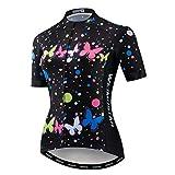 Fahrradtrikot für Damen, Mountainbike, Sommerkleidung, kurzärmelig, schnelltrocknend