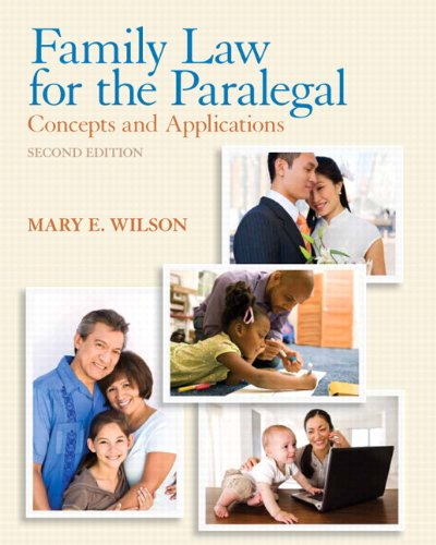 Family Law for the Paralegal: Concepts and Applications Plus NEW MyLegalStudiesLab and Virtual Law O
