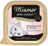 Miamor Milde Essen Senior - Pollame Pur & Manzo, confezione da 16 (16 x 100 g)