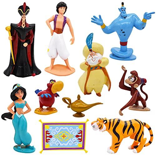 Babioms Mini Juego de Figuras, Princesa Cake Topper, Caricatura Mini Figures Set Fiesta de cumpleaños Pastel Decoración Adorno de Torta, 10 piezas