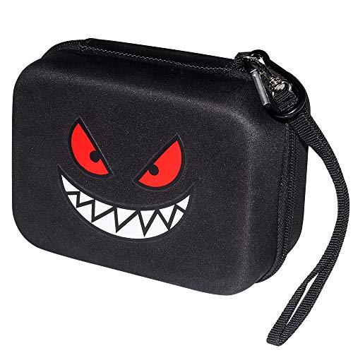 Brappo Estuche rígido Que Lleva la Bolsa de Almacenamiento para Tarjetas Pokemon,Tiene Capacidad para más de 550 Tarjetas de Intercambio de Pokémon. (Negro)