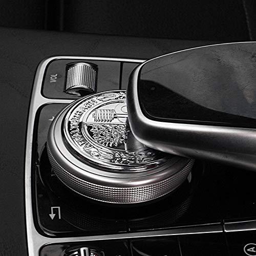 Auto Pro Aufkleber für Mercedes-Benz Modified 3D Apfelbaum-Lenkrad-Standard-Steueraufkleber New E New C Interior Multimedia-Knauf-Dekoration