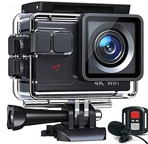 Cámara Deportiva 4K 20MP WiFi Cámara subacuática Ultra HD Impermeable 40M Action Camera 2.0