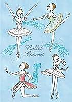バレエ ノート A5サイズ / かわぐちいつこ カワグチイツコ itscorbeille ballet イツコルベイユ / kina2010 バレエ コンサート・ブルー
