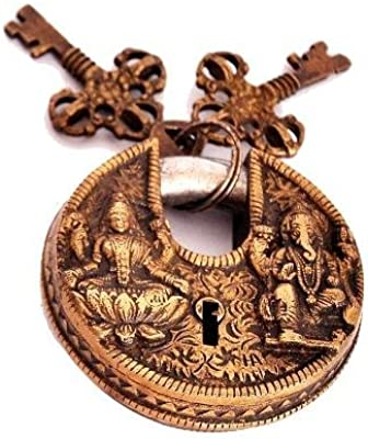 Buy Aona India Vastu Antique Gold Look Goddess Lakshmi Lord Ganesha Home Decor Online At Low Prices In India Amazon In
