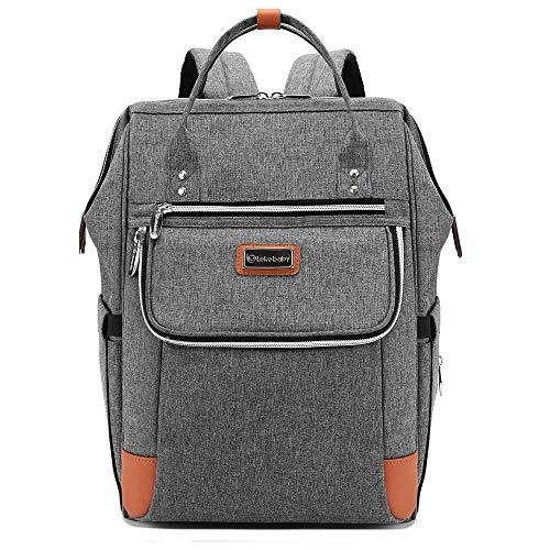 Lekebaby Baby Wickelrucksack Wickeltasche mit Wickelunterlage Multifunktional Babytasche Reisetasche für Unterwegs