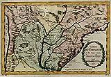 Paraguay Rio de la Platte Uruguay South America Brazil 1756 Bellin map