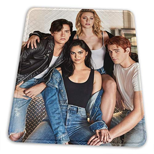 Riverdale Mouse Pad Large, Stitched Edges Gaming Mousepad, Anti-Slip Rubber Base Computer Keyboard Pad Mat, 7 x 8.6 inch