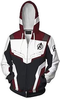 Unisex Cosplay Hoodie Movie Hero 3D Printed Quantum Zipper Sweatshirt Jacket for Halloween