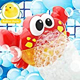 Addmos Bath Toys, Baby Bath Bubble Toys, Auto Crab Kids Bath Bubble Machine Bubble Blower Fun Shower Toys with 12 Musics