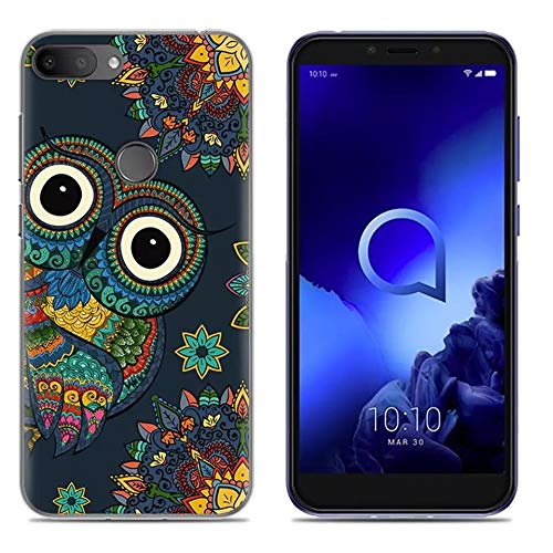 """Case for Alcatel 1S 2019,YZKJ Flexible Shock-Absorption Light but Durable Soft Gel Crystal Translucent TPU Silicone Protection Case Cover for Alcatel 1S 2019 (5.5"""") - LLM3"""