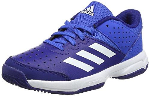 Adidas Court Stabil Jr, Unisex-Kinder Handballschuhe, Mehrfarbig (Blue/ftwr White/mystery Ink F17), 33 EU (1 UK)