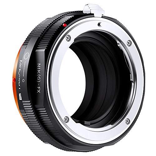 K&F Concept Nikon NIK (G) -FX Obiettivo Adattatore ad Anello Adattatore ad Alta Precisione per Obiettivo Nikon G/F/AI/AIS/D su Fotocamera Fujifilm Fuji FX
