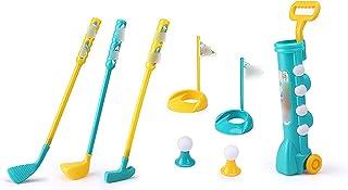Golfset voor kinderen Tuin Golfclubset Kinderen Golfset voor kinderen Minigolf Kinderspel voor kinderen Tuinspeelgoed,zwart