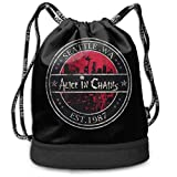 JINGS Alice in Chains The Multifunctional Mochila Beam Mouth is Beautiful and Generous, Which is Convenient for Going out.