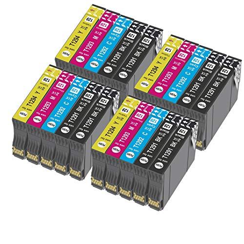 T1295 - Cartucho de tinta compatible con Epson T1292 T1293 T1294 con Epson WorkForc WF-3520 WF-7515 Stylus SX235W SX525WD SX535WD SX420W SX425W SX435W BX635FWD (20x)
