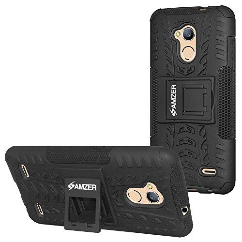 Amzer - Carcasa Protectora para ZTE Blade V6 Plus, ZTE Blade A2, Color Negro