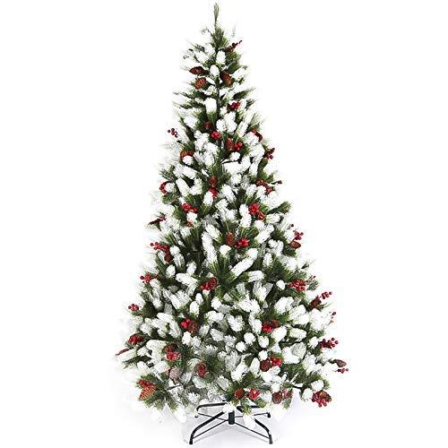 Árbol de Navidad, fácil Montaje con Soporte Plegable Decoración navideña para Interiores y Exteriores a