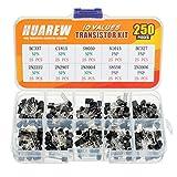 HUAREW 10 valores 250 piezas transistor NPN BC337 C1815 S8050 2N2222 2N2907 2N3904 PNP A10...