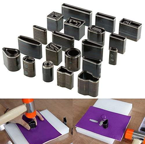 39 Shape Style One Hole Hollow Punch Cutter Tool Leather Craft Set DIY For Handmade