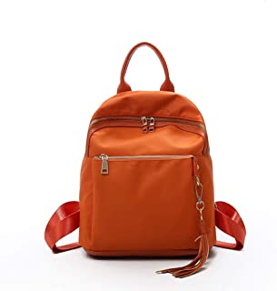 GYYlucky Women's Backpack Nylon Backpack Women's Shoulder Fashion Explosion Candy Candy Trend Fashion Sports Girl Travel Bag (Color : Orange)