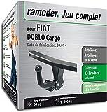 Rameder Attelage démontable avec Outil pour Fiat DOBLO Cargo + Faisceau 13 Broches (160298-04743-1-FR)