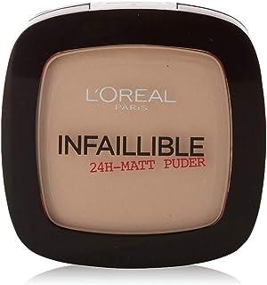 L'Oréal Paris Infaillible poeder, 225 beige/compact poeder voor de perfecte afwerking & tot 24 uur grip/huidvriendelijk po...