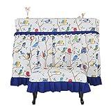 Klavierabdeckung Staubdichte Pastoral im europäischen Stil Einfach High-End Nordic (Farbe: Blau, Größe: Doppelbank)
