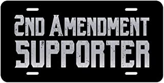2nd Amendment Supporter Vanity Front License Plate Tag KCE292