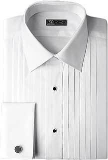 Ike Behar Tuxedo Shirt in White