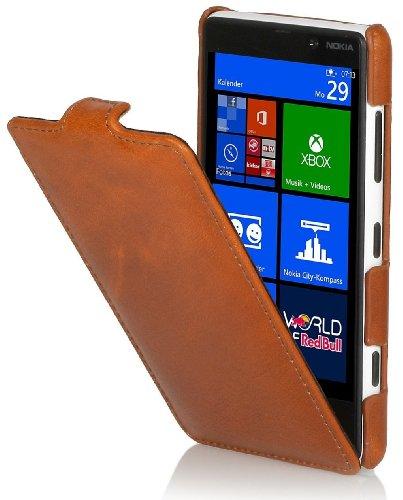 StilGut Funda Ultraslim Exclusiva en Piel para Nokia Lumia 820, Cognac