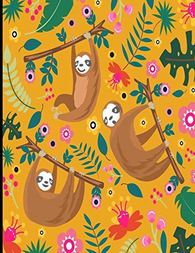 Alexa: Orange Sloth Sketch Book, 366 Pages Sketch Pad, Sloth Sketchbook, Cute Sloth Cover Drawing Book