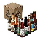 INTRO BEER CLUB Box Degustazione Birre Artigianali - Selezione di Birre dal Mondo'Belgio Forever' - Kit con 9 Bottiglie da 33cl - Confezione Idea Regalo Uomo